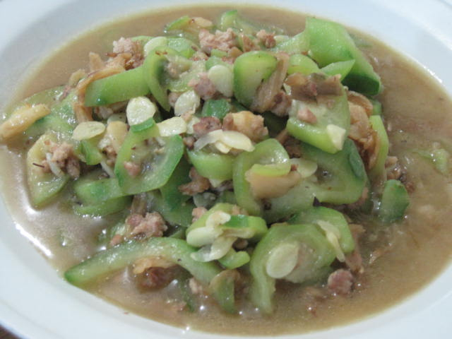 Recipes with vegetables loofah with tong cai and mince pork meat loofah is harvested for food forumfinder Images